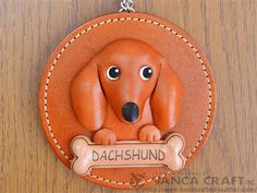 Decoración de pared de cuero Dachshund  VANCA  Made in Japan