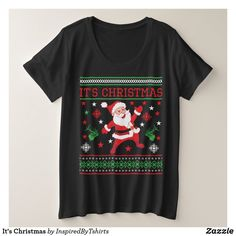 It's Christmas Plus Size T-Shirt Plus Size T Shirts, Wardrobe Staples, Fitness Models, T Shirts For Women, Female, Casual, Sleeves, Mens Tops, Cotton