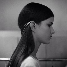 Sarah  Sebastian for Dion Lee sterling silver headpiece