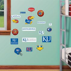 NCAA Kansas Jayhawks - Team Logo Assortment Wall Decal Sticker