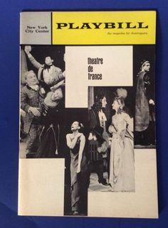 Vtg Program Playbill New York City Center Theatre de France 1960s Ads | eBay