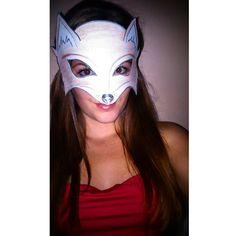 Mala som #kreativnuchvilku #urobsiradost #urobsisam #fox #girl #me #doityourself #longhair #brownhair #uzlentak #longhair #happy #foxmask #byme #astacilo