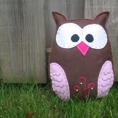 Stuffed Owl PATTERN - Sew by Hand Plush Felt Stuffed Animal PDF - Easy to Make - Binky the Owl