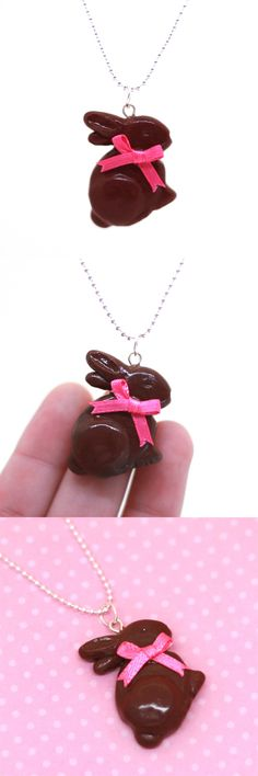 Scented Chocolate Easter Bunny Necklace