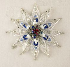 Beaded wire snowflake