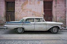 A classic American car on a Cuban street.