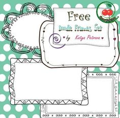Doodle Frames - Freebie - Commercial Use Follow for free 'too-neat-not-to-keep' teaching tools & tricks :)