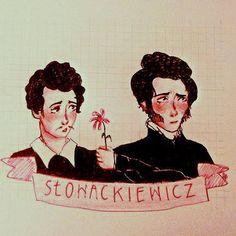 For two polish romantic poets - Adam Mickiewicz and Juliusz Słowacki, who despised each other passionately. Or didn't they. Who the hell knows. _________________ Zbiór pieśni i coverów złożonych głównie z tekstów A. Mickiewicza i J. Słowackiego, z gościnnym udziałem różnorakiej poezji śpiewanej.