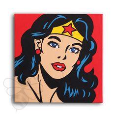 Wonder Woman Pop Art  12x12 by ArtofaSilentBee