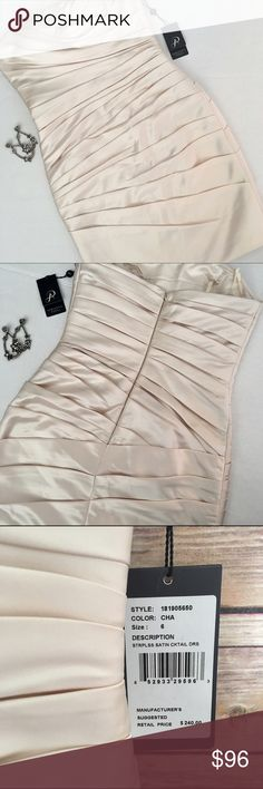 Adrianna Papell Strapless Satin Cocktail Dress Never worn/ Excellent Condition/ Smoke & Pet Free Home/ Offers Welcome/ Please ask Questions/ Measurements upon request Adrianna Papell Dresses Mini