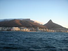 Our favourite winter destination- love the 'tablecloth' spilling over table mountain.
