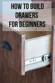 tips and tricks! Perfect guide for a beginner! How to build drawers for a beginner! They are not that hard! Woodworking Classes, Easy Woodworking Projects, Popular Woodworking, Woodworking Furniture, Fine Woodworking, Wood Projects, Woodworking Techniques, Woodworking Machinery, Woodworking Workbench
