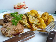 Bravčové mäso s cuketou a zemiakmi