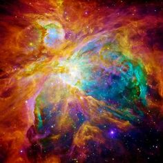 """Orion Nebula. Hundreds of baby stars on a """"canvas"""" of gas and dust"""