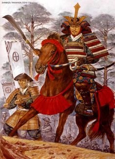 Hirano Nagayasu (1559-1628) was a samurai warlord who served Toyotomi Hideyoshi during the Sengoku period (or Warring States period from mid-15th to early 17th century). Gonbei is his alias. He is known as one of the Seven Spears who fought well in the Battle of Shizugatake. This print shows a scene from the battle. He later allied with the Eastern Army in the Battle of Sekigahara, but could not participate in the main battle since he was serving Tokugawa Hidetada.