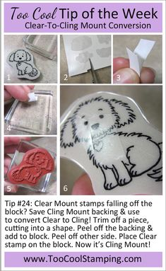 It's so frustrating when clear mount stamps fall off the blocks! Now you can use Cling Mount backing scraps to solve this problem for good! Embossing Tool, Card Making Tips, Stamping Up, Craft Tutorials, Homemade Cards, Stampin Up Cards, Tricks, Cardmaking, Paper Crafts
