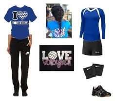 """""""Can you dig it"""" by evewalts16 ❤ liked on Polyvore featuring NIKE, Asics and Volleyball"""
