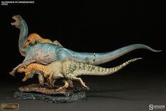 Dinosauria Allosaurus vs Camarasaurus Statue by Sideshow Col | Sideshow Collectibles