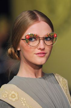 Ulyana Sergeenko Spring 2013 - Well I think I need those glasses...