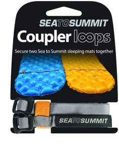 Sea to Summit Mat Coupler Kit. Couples any combination of two Sea to Summit Sleeping Mats. Weighs .5oz/17g. Connects the Sea to Summit Sleeping Mats at the top and bottom of the mats.