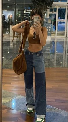 Teen Fashion Outfits, Retro Outfits, Cute Casual Outfits, Look Fashion, Summer Outfits, Stylish Outfits, Goth Outfit, Pants Outfit, Mode Swag