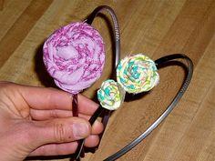 twisty flower headband
