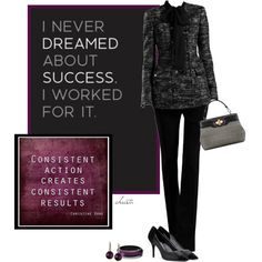 Success by christa72 on Polyvore featuring Salvatore Ferragamo, Alexis Bittar, Rachel Rachel Roy and Gucci