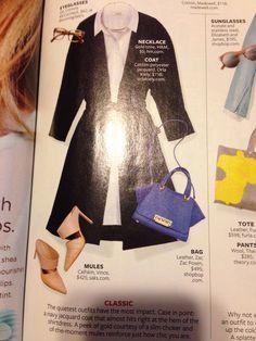 Trench & heels w/shirt dress