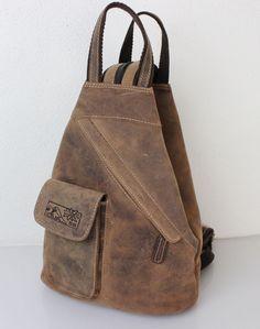 f724321b3b5d4 2 in 1 Leder Rucksack und Umhängetasche Hunter Collection von Bayern Bag®   lederrucksack