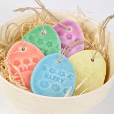Personalised Easter Egg Decoration, SALE LUCKY DIP, porcelain. £5.00, via Etsy.