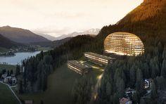 #Proyectos futuristas | Hotel Intercontinental, Davos, #Suiza | #arquitectura  #architecture