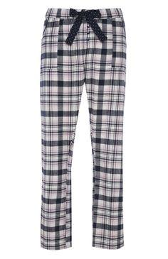 Pantalon de pyjama à carreaux rose/bleu