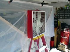 How to Create a Paint Booth in Your Garage. A paint booth can help you create clean and smooth paint jobs for your projects without getting paint all over everything. To build a booth in your garage, try creating a frame out of PVC pipe,. Diy Paint Booth, Spray Paint Booth, Garage Paint, Diy Garage, Garage Ideas, Car Painting, Spray Painting, Painting Tricks, Garage Workshop