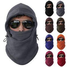 Mens Womens Winter Fleece Balaclava Hat Ski Motorcycle Warm Face Mask Hood Cap