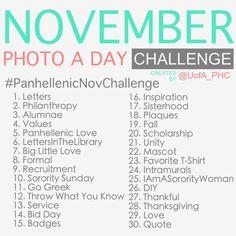 Panhellenic November Photo Challenge!