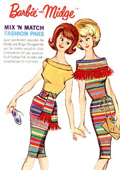 "Barbie & Midge - Mix 'N Match (Fashion Paks) ""Oh! A serape Mexican theme. How clever."