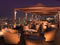 Sama Terrazza rooftop lounge at Park Inn Muscat - Modern Rooftop Design, Rooftop Lounge, Rooftop Bar, Outdoor Lounge, Rooftop Garden, Outdoor Restaurant Patio, Restaurant Hotel, Restaurant Concept, Lounge Design