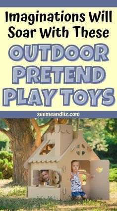 These are the best outdoor toys for toddlers and preschoolers pretend play! Learn how these toys can boost your child's creativity and imagination which in turn strengthen many other skills including speech and language development! Pre Reading Activities, Outdoor Activities For Kids, Rainy Day Activities, Outdoor Learning, Preschool Learning Toys, Learning Toys For Toddlers, Toddler Learning, Fun Learning, Best Outdoor Toys