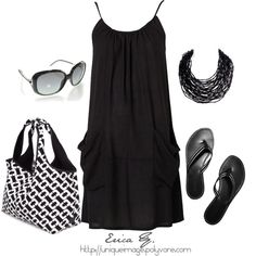 Love the dress and necklace. Simple and easy summer outfit.