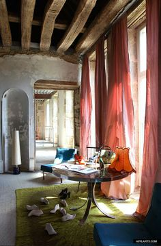 photos of Michel Perry's home in Bourgogne, France, by Jean-Francois Jaussaud of LuxProductions