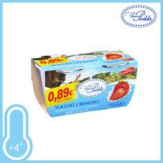 Cremoso e gustoso con veri pezzi di frutta. Gusto Fragola. Conf. 2xgr.125 a solo € 0,59!!!