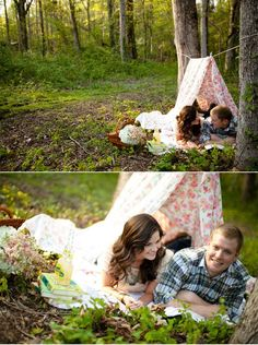 Brilliant Ideas for Picnic Engagement Photo Session