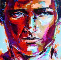 Peintre portraitiste contemporain Berto Portraits, Les Oeuvres, Painting, Contemporary, Canvas, Artist, Townhouse Interior, Drawing Drawing, Painters