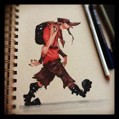 2D Bean artblog- Concept art, visual Development, Doodles, and Illustrations of Brett Bean: Morning warm up
