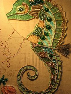 ♒ Enchanting Embroidery ♒ embroidered seahorse