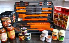 A great set of grilling tools for helping me to make the cooking easy!