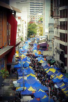 Tuanku Abdul Rahman, a traditional shopping district in Kuala Lumpur, Malaysia