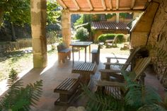 El Moli de Can Aulet, Catalonia, Spain. Set in a small valley amidst lovely countryside, the house is surrounded by fields and forest http://www.organicholidays.com/at/2968.htm