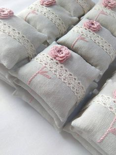 Wedding favors unique favors party favors lavender sachets lavender pillows lavender fragrancecrochet favors set of 3 Lavender Crafts, Dried Lavender Flowers, Lavender Bags, Lavender Sachets, Lavender Pillow, Wedding Shower Gifts, Unique Wedding Favors, Crochet Cushions, Pin Cushions