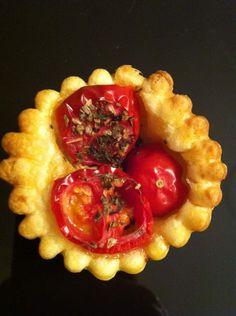 Minis tartelettes tomate moutarde basilic (sans thermomix)